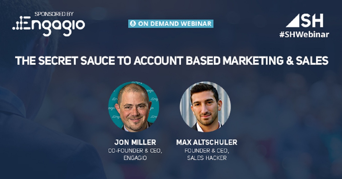 The Secret Sauce to Account Based Marketing and Sales