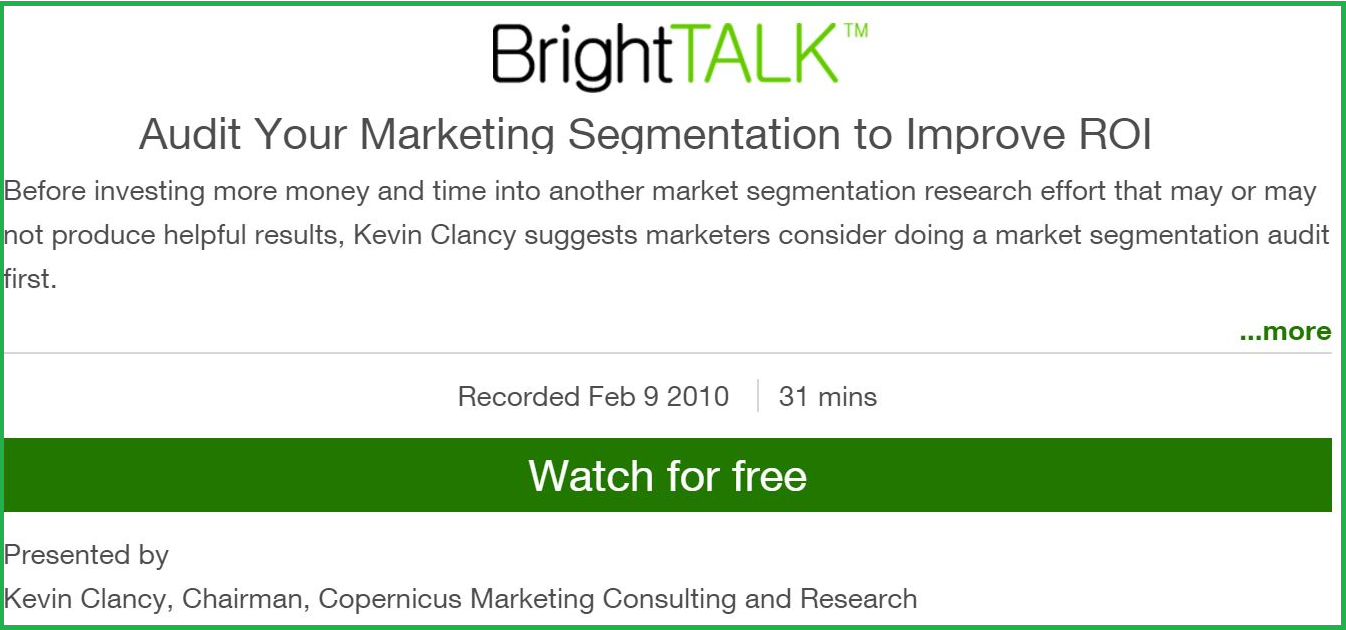 Audit Your Marketing Segmentation to Improve ROI