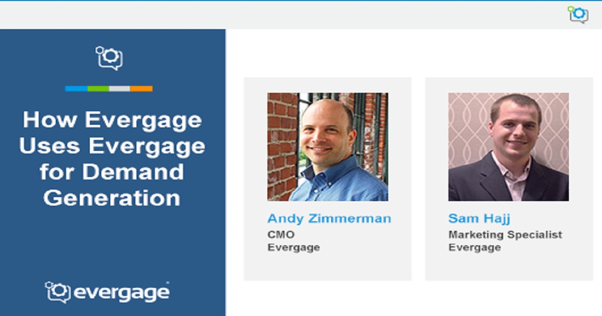 On-Demand Webinar: How Evergage Uses Evergage for Demand Generation