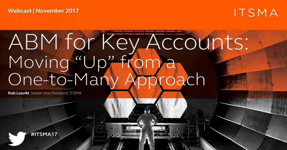 ABM for Key Accounts: Moving Up from a One to Many Approach