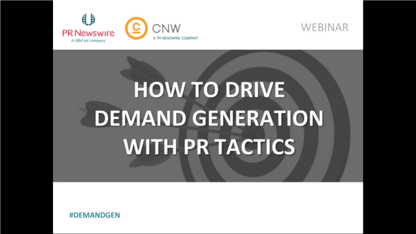 How to Drive Demand Generation with PR Tactics