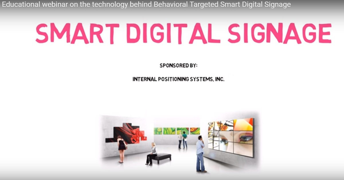 SMART DIGITAL SIGNAGE (BEHAVIORAL TARGETING)