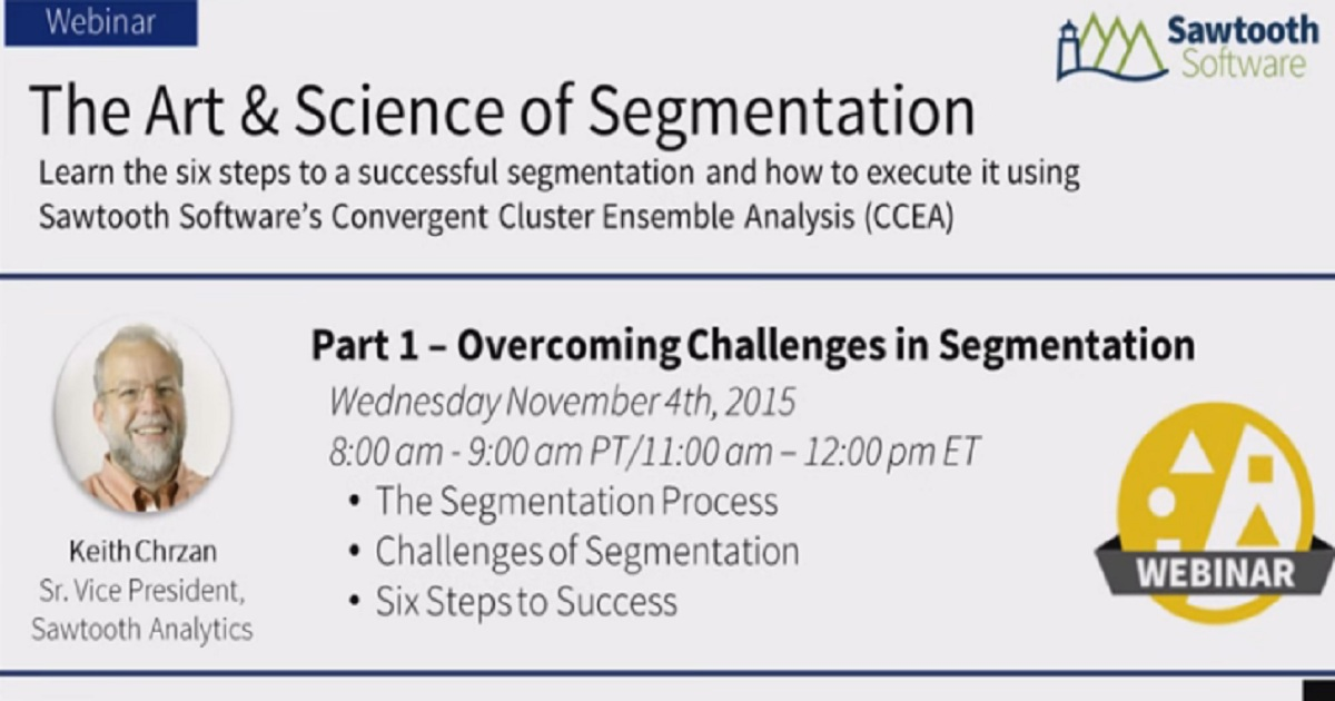 The Art and Science of Segmentation