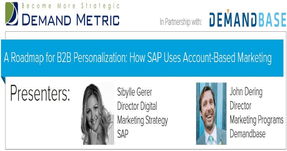 A Roadmap for B2B Personalization: How SAP uses Account-Based Marketing