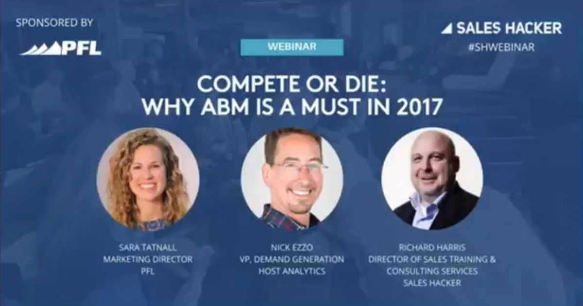 Compete or Die: Why ABM is a Must in 2017