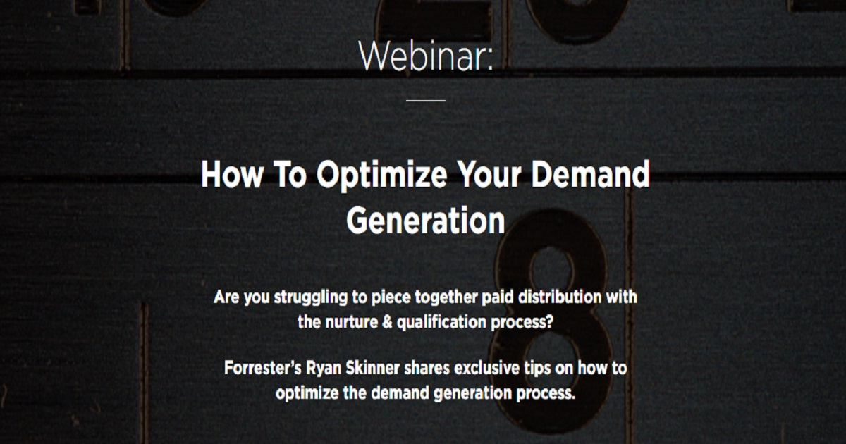 How To Optimize Your Demand Generation