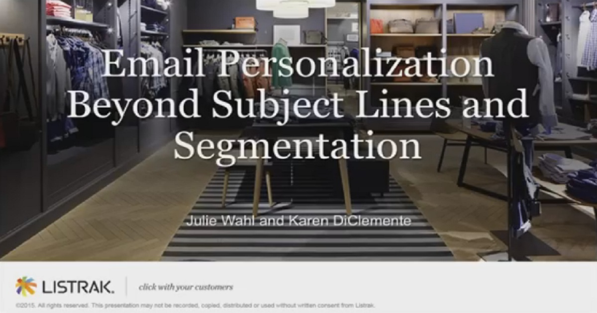 Email Personalization Beyond Subject Lines and Segmentation