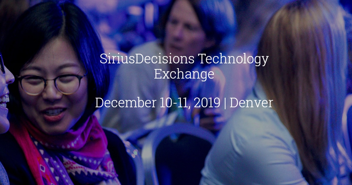 SiriusDecisions Technology Exchange
