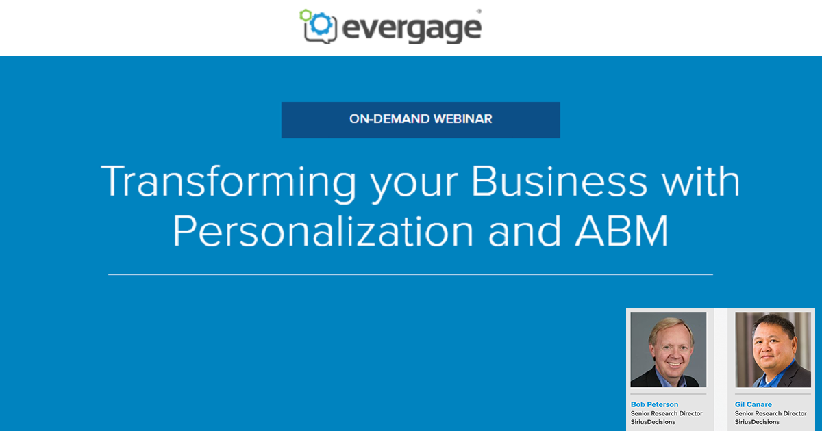 Transforming your Business with Personalization and ABM