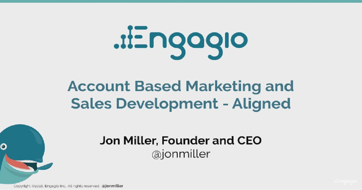 Account Based Marketing and Sales Development — Aligned