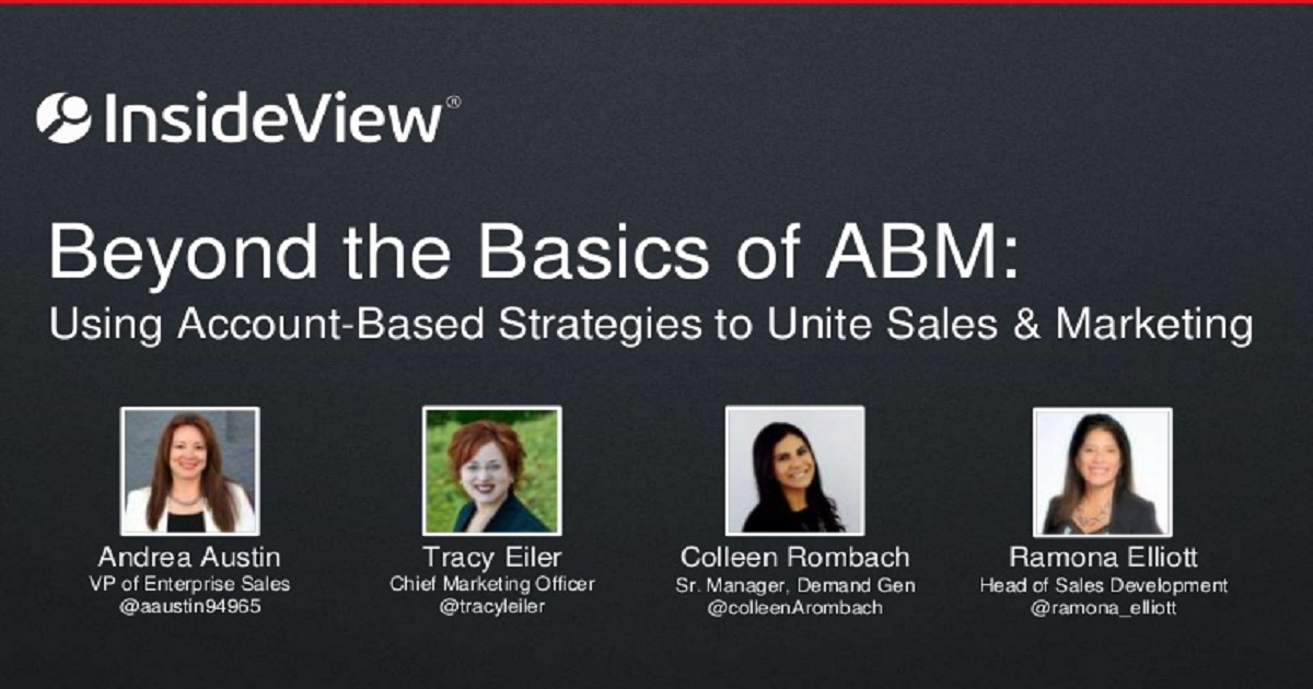 Using Account-Based Strategies to Unite Sales & Marketing