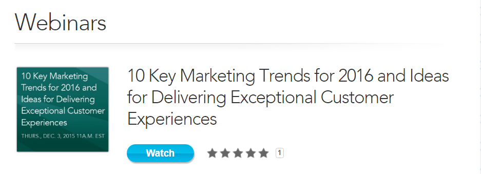 10 Key Marketing Trends for 2016 and Ideas for Delivering Exceptional Customer Experiences