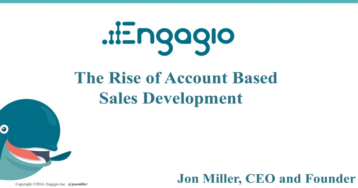 The Rise of Account Based Sales Development