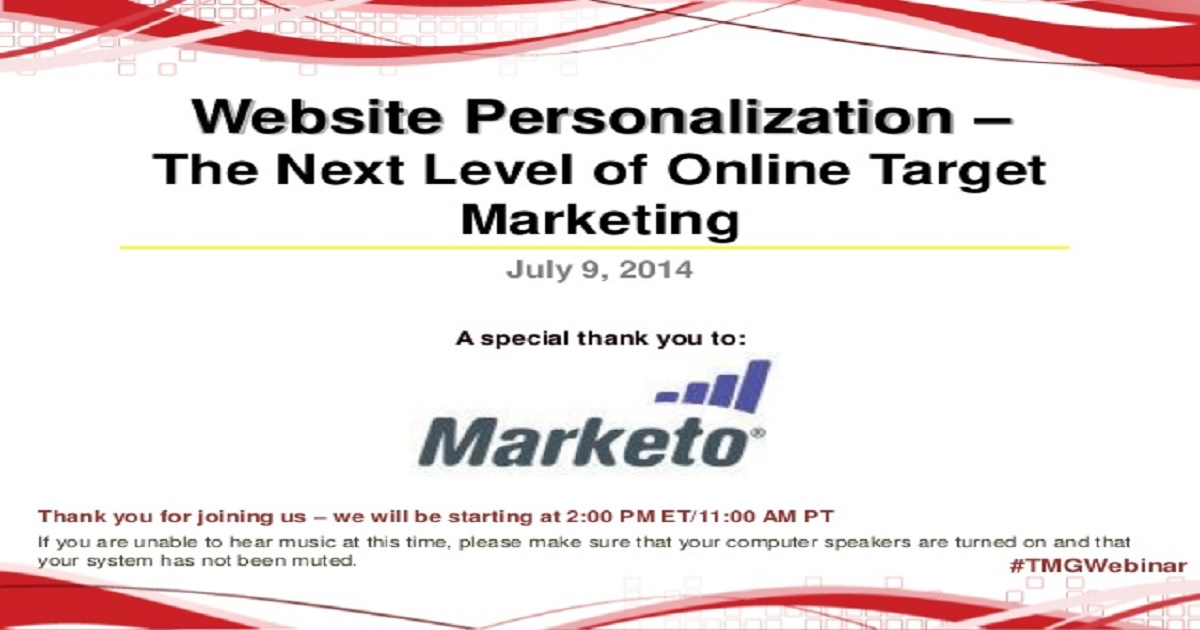 Website Personalization – The Next Level of Online Target Marketing
