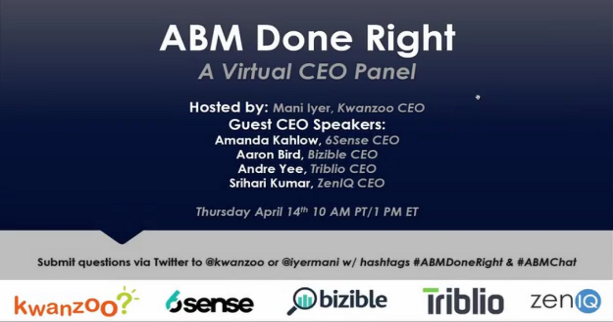 ABM Done Right: The CEO Panel