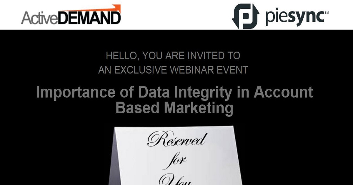 Importance of Data Integrity in Account Based Marketing