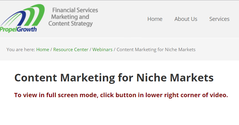 Content Marketing for Niche Markets