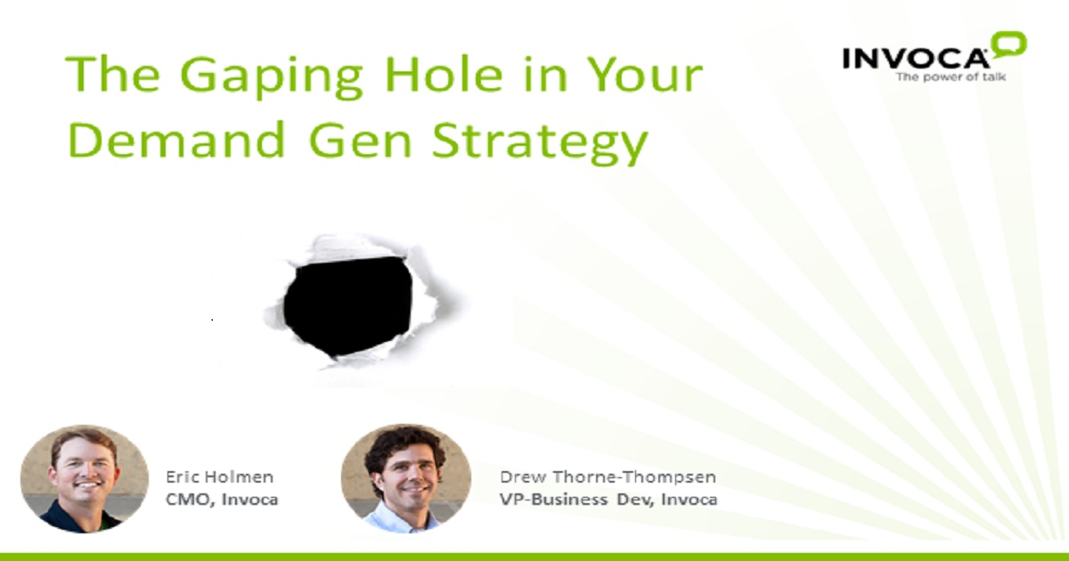 The Gaping Hole in Your Demand Gen Strategy
