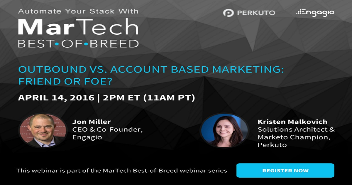 Outbound vs Account Based Marketing - Friend or Foe?
