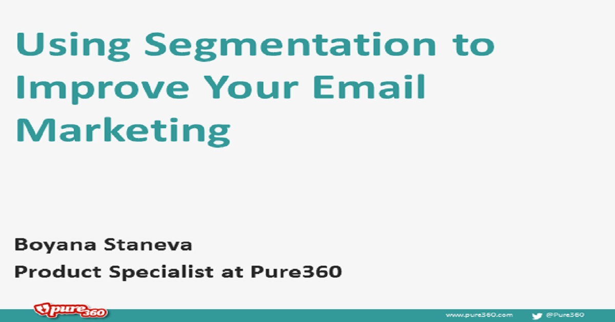 Using Segmentation for Email Marketing
