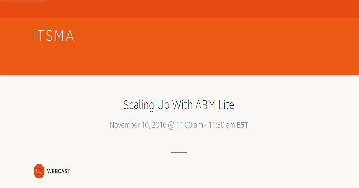 Scaling Up With ABM Lite