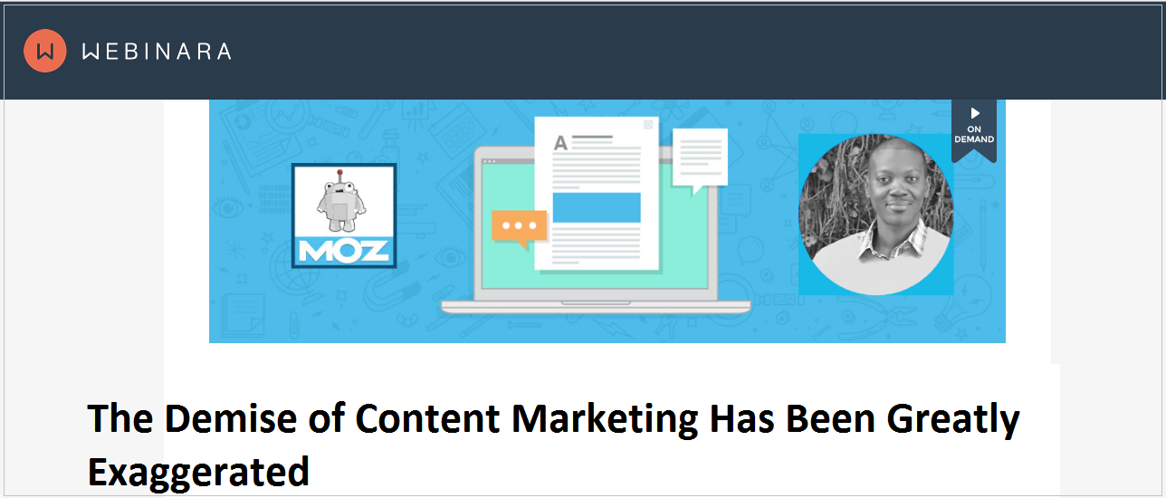 The Demise of Content Marketing Has Been Greatly Exaggerated