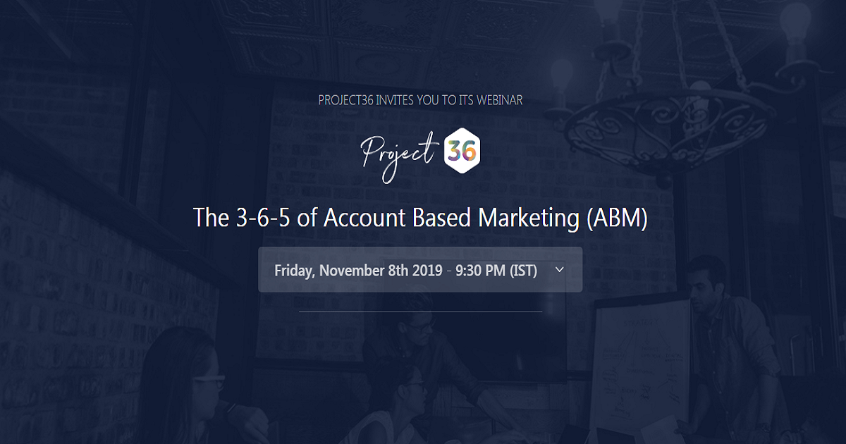 The 3-6-5 of Account Based Marketing