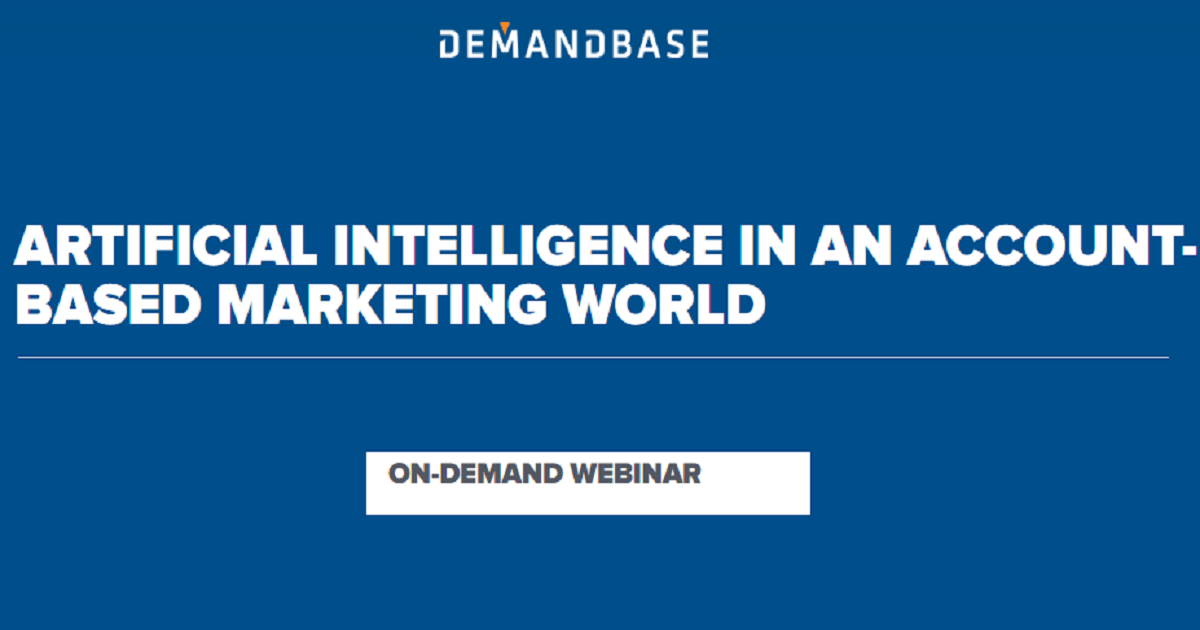 Artificial intelligence in an account-based marketing world