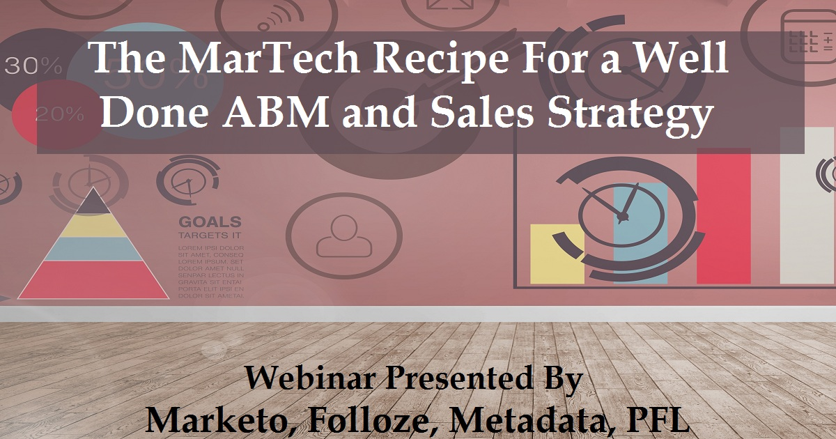 The MarTech Recipe For a Well Done ABM and Sales Strategy