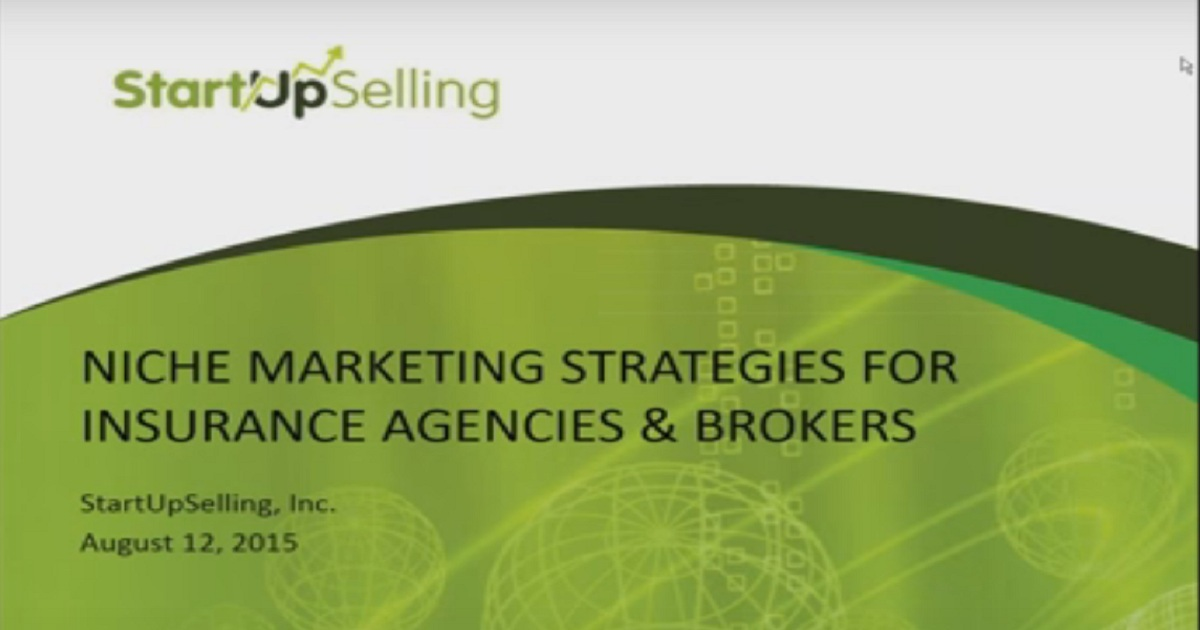 Niche Marketing Plans for Insurance Agencies & Wholesale Brokers