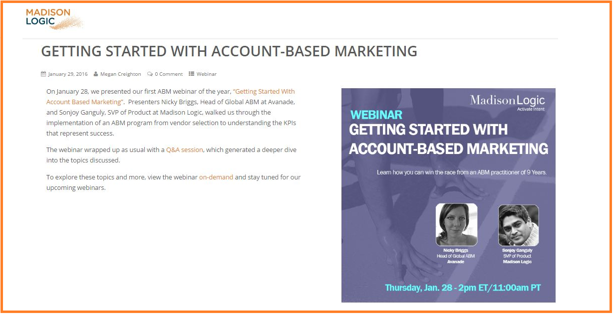 Getting Started With Account Based Marketing