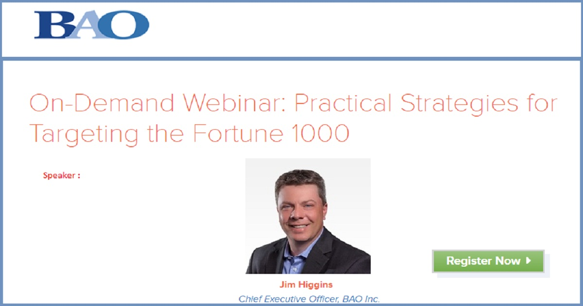 On-Demand Webinar: Practical Strategies for Targeting the Fortune 1000