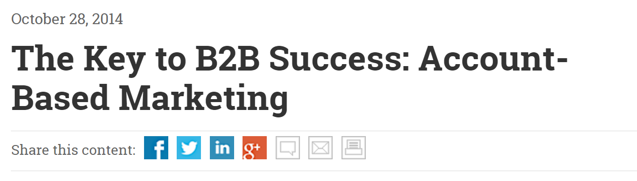 The Key to B2B Success: Account-Based Marketing