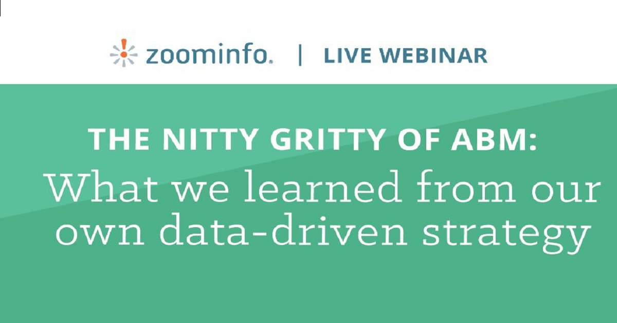 The nitty gritty of ABM: What we learned from our own data-driven strategy