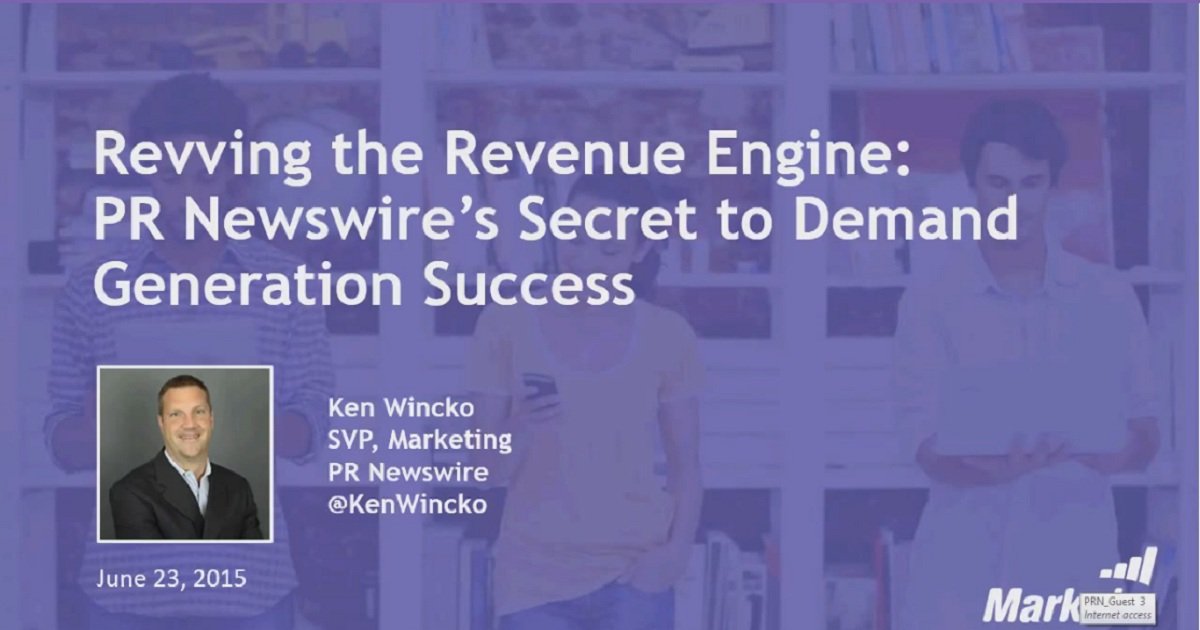 Revving the Revenue Engine: PR Newswire's Secret to Demand Generation Success