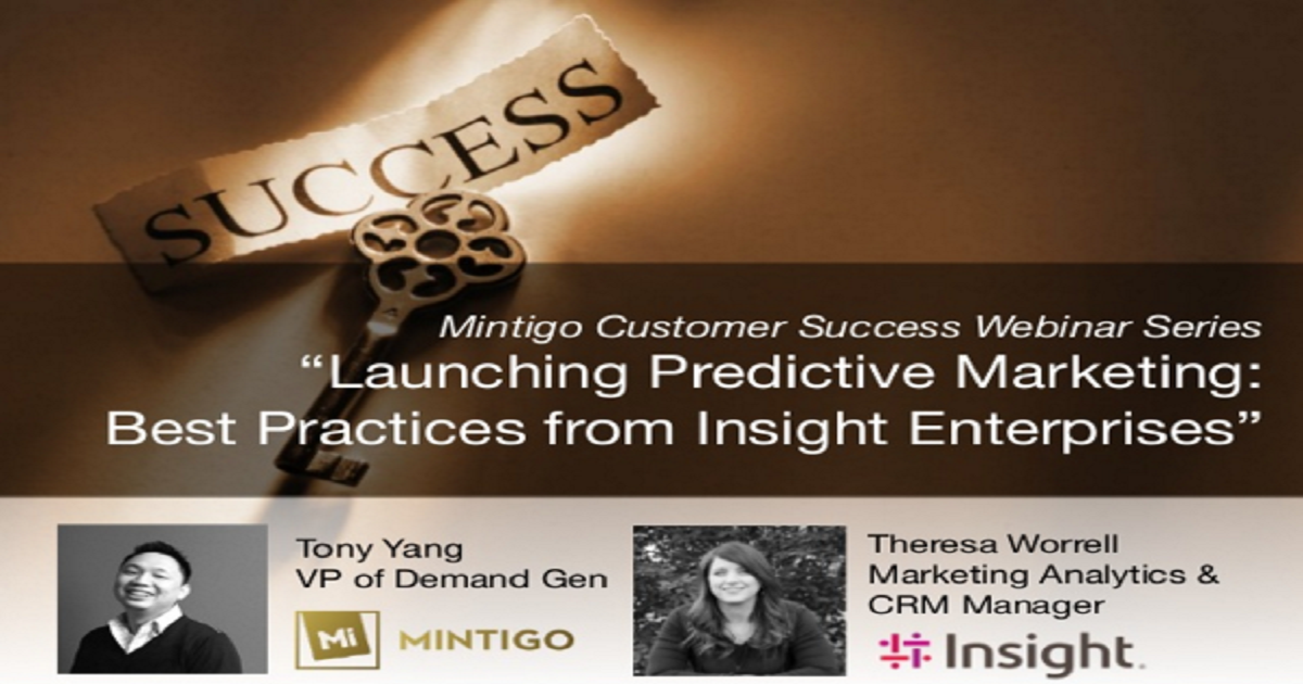 Launching Predictive Marketing: Best Practices From Insight Enterprises